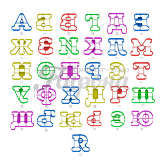 Набор форм для пряников и печенья Алфавит