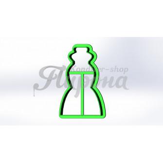 """Форма для пряника и печенья """"Платье 5"""""""