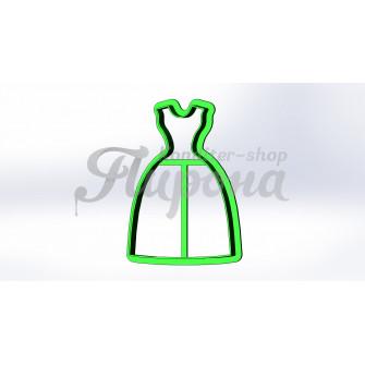 """Форма для пряника и печенья """"Платье 6"""""""