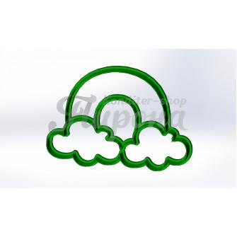 """Форма для пряника и печенья """"Радуга с облаками"""""""