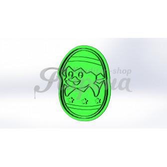 """Форма для пряника и печенья с оттиском """"Утенок в яйце"""""""
