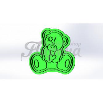 """Форма для пряников и печенья """"Тедди с сердцем 8"""""""