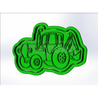 Форма для пряников и печенья с оттиском транспорт Трактор 1