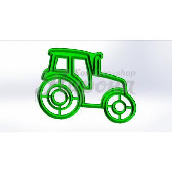 Форма для пряников и печенья с оттиском транспорт Трактор 3