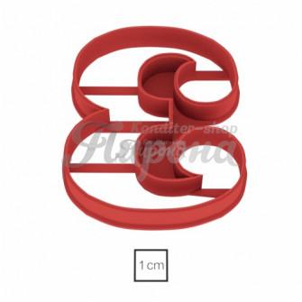 Форма для пряников и печенья Цифра 3, 10 см версия 2
