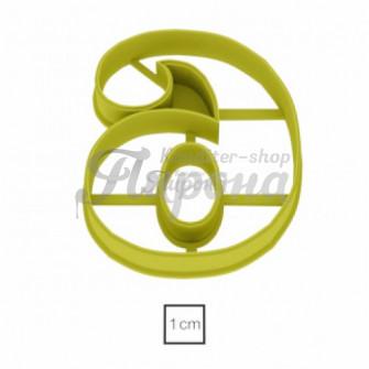 Форма для пряников и печенья Цифра 6, 10 см версия 2