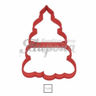 Форма для пряников и печенья Пышная елочка 11 см