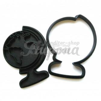 Форма для пряников и печенья с оттиском Глобус , 10 см