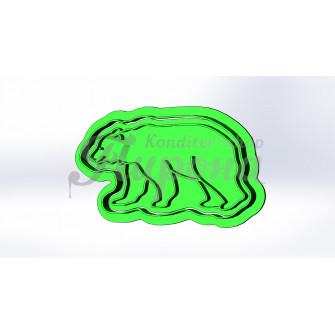 """Форма для пряников и печенья с оттиском """"Медведь 2"""""""