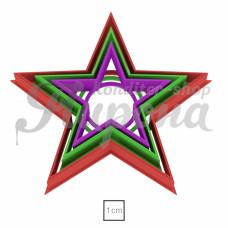 """Набор форм """"Звездочки №1, узкие лучи"""", 3 шт"""