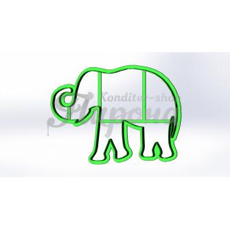 """Форма для пряников и печенья """"Слон 3"""""""