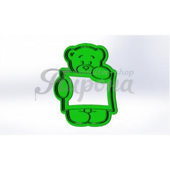 """Форма для пряников и печенья с оттиском """"Тедди подушка"""""""
