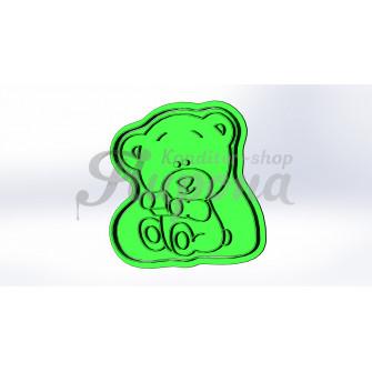 Форма с оттиском медведь малыш