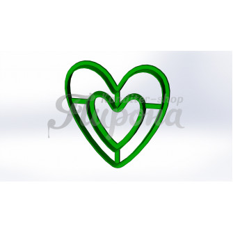 """Форма с оттиском """"Сердце в сердце"""""""